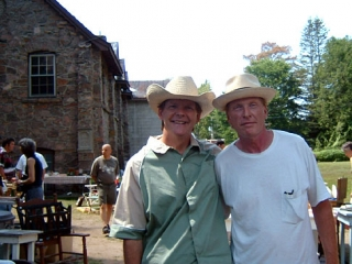 David with Russell deCarle at the Rosseau Antique Market
